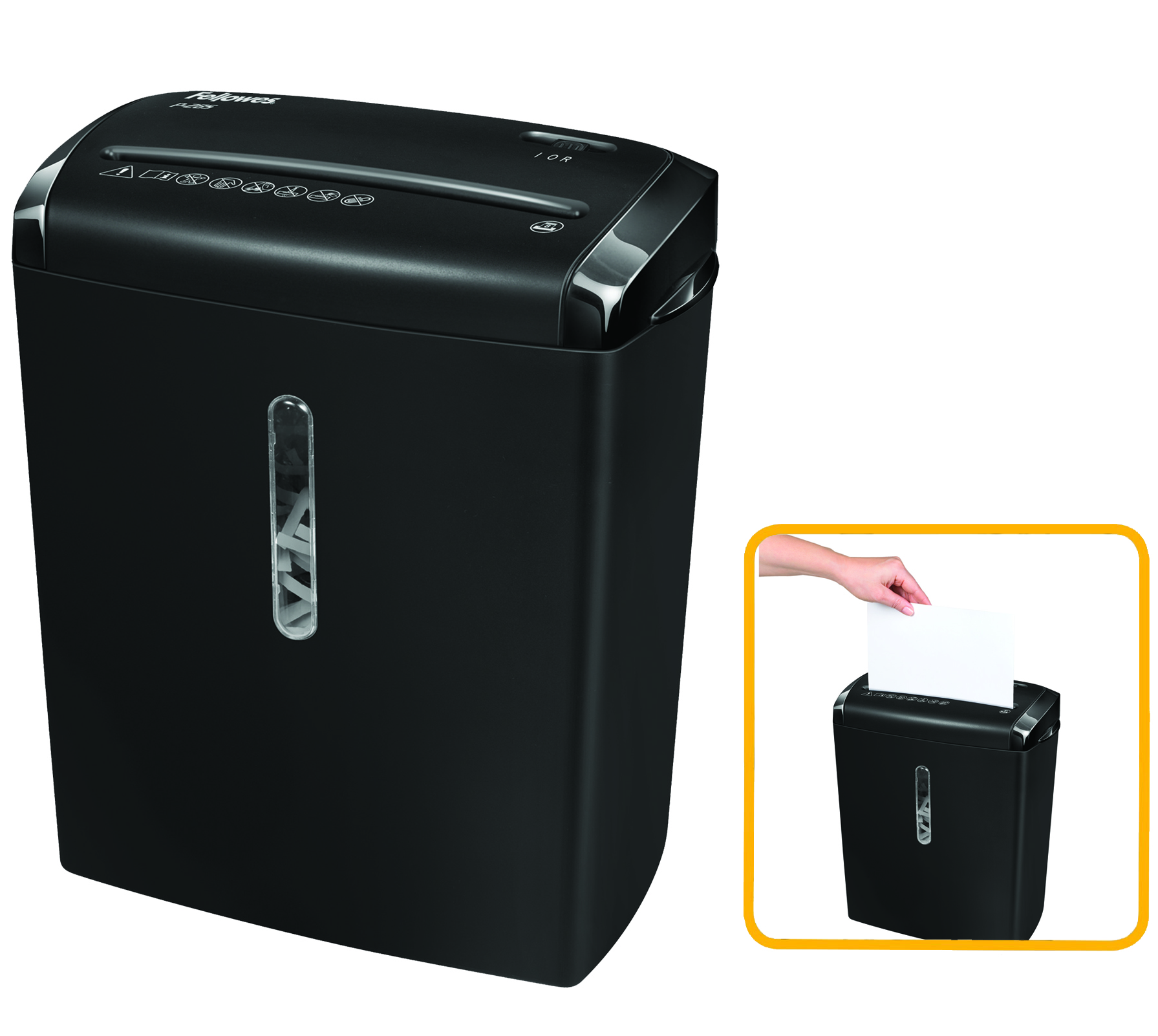 Destruidora de Papel Fellowes P-28S, 8fls, 15L
