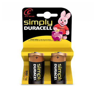 Pilhas Duracell Simply C