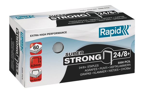 Agrafes Nº 24/8 Strong 5000un Rapid