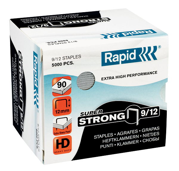 Agrafes Nº 9/12 Strong 5000un Rapid