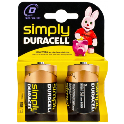 Pilhas Duracell Simply D