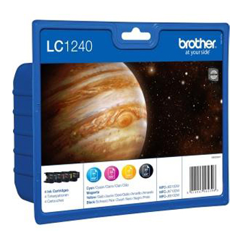 Tinteiro Brother Pack 4 Cores LC1240VALBP