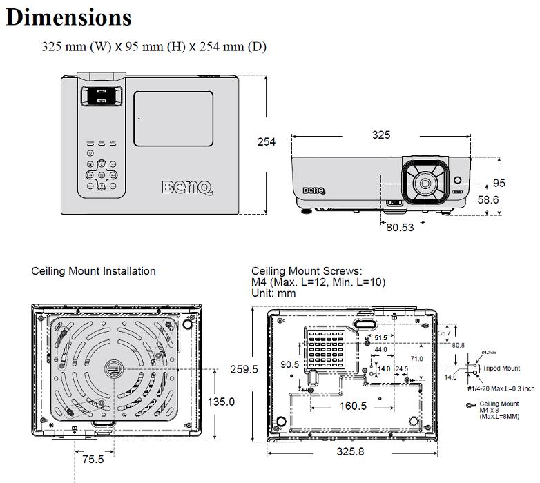 videoprojector benq sp840   4000lm    dlp na loja
