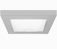 Paineis Projectores de Tecto Falso LED IP44 Aço 120x120mm 9W Neutro Saliente