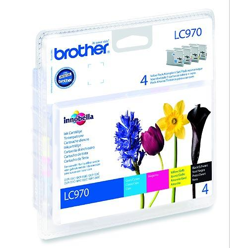 Tinteiro Brother Pack 4 Cores LC970VALBP