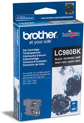 Tinteiro Brother Preto LC980BK
