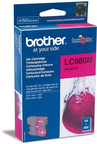 Tinteiro Brother Magenta LC980M
