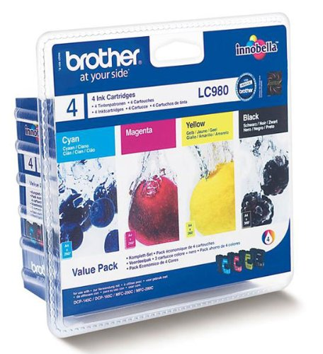 Tinteiro Brother Pack 4 Cores LC980VALBP