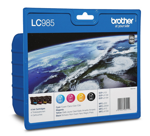 Tinteiro Brother Pack 4 Cores LC985VALBP