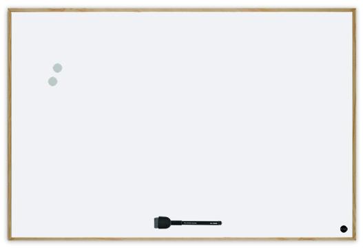 Quadro Branco Magnético v Moldura Branca New Basic