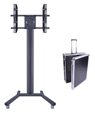"Suportes TV / Televisão 40 - 63"" M PUBLIC DISPLAY 180 FLIGHTCASE c/ Mala de Transporte Preto Multibrackets"