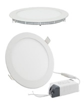 Projectores de Tecto Falso Downlight Redondos 120x20mm, 420lm, 6W, 4200K com Transformador