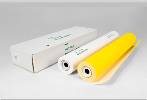 Papel Plotter 914mmx45m Amarelo e Branco Dupla Face (rolos ploter)